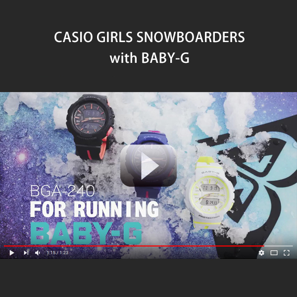 CASIO GIRLS SNOWBOARDERS with BABY-G